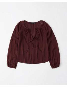 Chiffon Tie Blouse by Abercrombie & Fitch