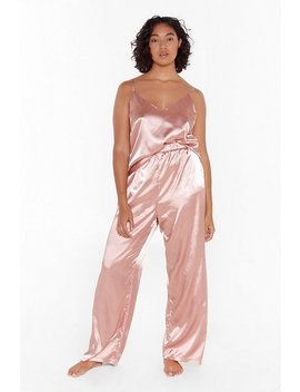 The Sleepover Club Plus Satin Pajama Set by Nasty Gal