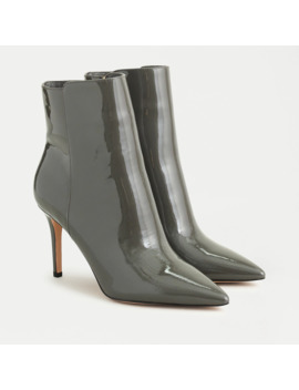 Pointed Toe High Heel Ankle Boots In Patent Leather by J.Crew