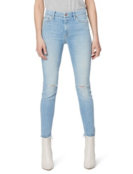 The Looker High Waist Ripped Fray Hem Ankle Skinny Jeans by Mother