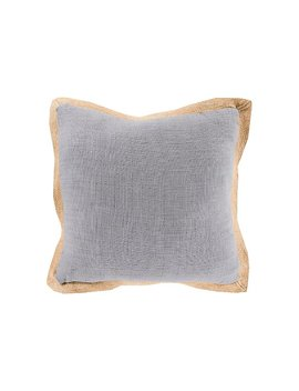 "Jute Flange Woven 20"" Throw Pillow by Ashley Homestore"