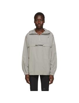 Grey Half Zip Windbreaker Jacket by Polythene* Optics