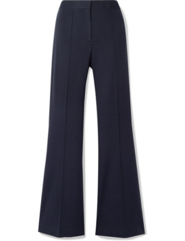 Pleated Jersey Flared Pants by Victoria, Victoria Beckham