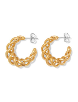 Large Gold Plated Hoop Earrings by Leigh Miller