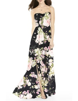 Strapless Front Slit Gown by After Six