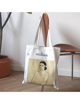 Anaan Woman Eco Canvas Shoulder Bag With Inner Pocket Handles Henri Matisse Painting Printed Cotton Canvas, Tote Shopper Carrying Bag Design by Etsy