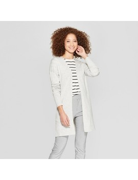 Women's Long Sleeve Back Belt Open Cardigan Sweater   A New Day™ by A New Day