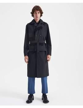 Nylon Rib Trench Coat   Black by Craig Green