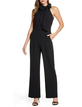 Kors Bow Neck Stretch Crepe Jumpsuit by Vince Camuto