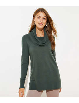 Petite Luxe Knit Cowl Neck Tunic Sweater by Loft