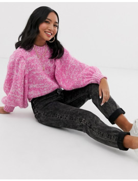 Asos Design Petite – Pullover Aus Edlem Garm Mit Voluminösen Ärmeln by Asos