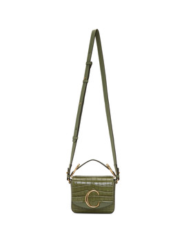 Green Croc Mini 'chloé C' Bag by ChloÉ