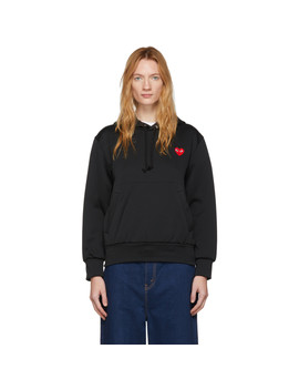 Black Men's Fit Heart Patch Hoodie by Comme Des GarÇons Play