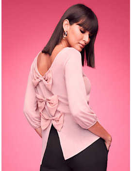 Bow Back Top   Sweet Pea by New York & Company