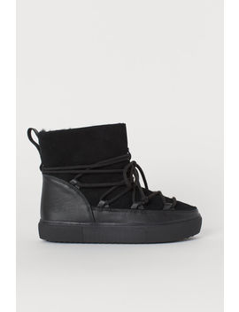 Warm Lined Suede Hi Tops by H&M