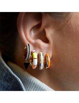 2019 Fashion Jewelry Metal Enamel Hoop Earring For Women Small Round Circle Huggie Earring Ear Cuff Girls Bijoux Accessories by Ali Express.Com