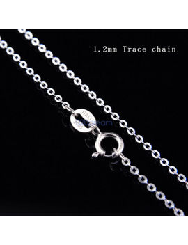 Real Solid 925 Sterling Silver Chain Necklace All Sizes Stamped .925 Italy Lady by Unbranded