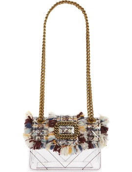 Mini Mayfair Tweed Clear Crossbody Bag by Kurt Geiger London