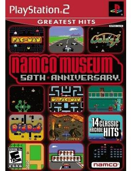 Playstation Ps2 Namco Museum 50 Th 16 Games Galaga 14 Arcade Games On 1 Disc New by Ebay Seller
