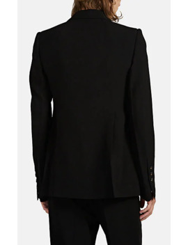 Wool Blend One Button Tuxedo Jacket by Rick Owens