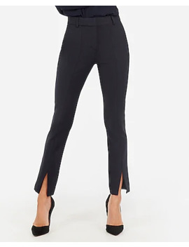 High Waisted Front Slit Cropped Skinny Pant by Express