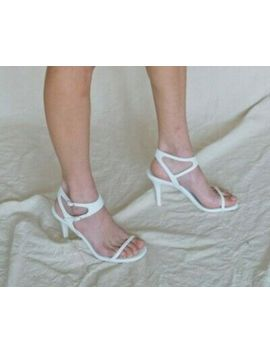 <Span><Span>Paco Rabanne White Leather Thin Strap Ankle Cut Out Buckle Heel Sandals 8/38</Span></Span> by Ebay Seller