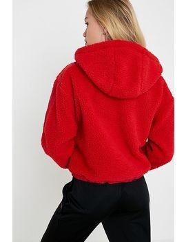 Iets Frans... – Roter Hoodie Aus Fleece Zum Überstreifen by Iets Frans... Shoppen