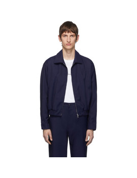 Navy Zip Up Jacket by Random Identities