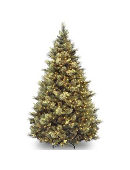 Green Pine Artificial Christmas Tree With Clear Lights With Stand by Loon Peak