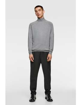 Sweater With A Roll Neck by Zara