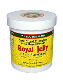Y.S. Eco Bee Farms, Royal Jelly, In Honey, 675 Mg, 1.3 Lbs (595 G) by Y.S. Eco Bee Farms