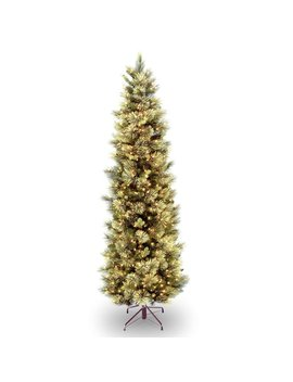 Slim Green Pine Artificial Christmas Tree With Clear Lights by Laurel Foundry Modern Farmhouse
