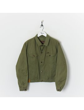 Marlboro Denim Jacket Olive Green Large by Marlboro