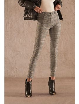 Plaid Skinny Pants by Justfab