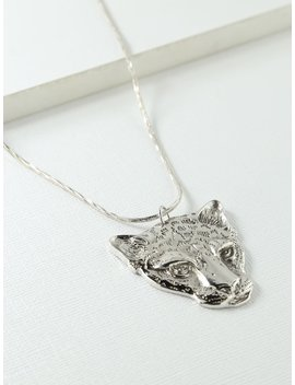 The Jaguar Necklace Silver by Vanessa Mooney