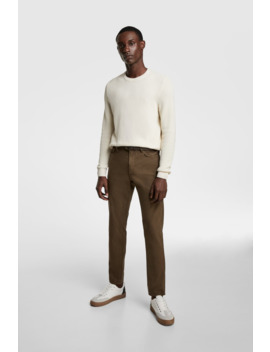 Structured Pants With Belt by Zara