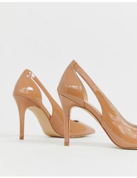 carvela-side-cut-out-court-shoe-in-beige by carvela