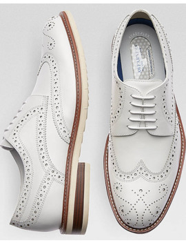 Awearness Kenneth Cole Awear Tech Kite Flex White Wingtip Derbys by Kenneth Cole