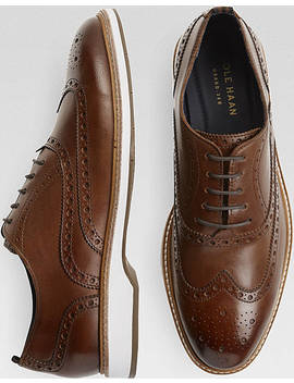 Cole Haan Morris Tan Wingtip Oxfords by Cole Haan