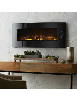 """Cassie 42"""" Curved Wall Mount Electric Fireplace by Muskoka"""