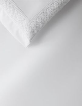 Pure Cotton Sateen Autograph Lace Trim Bedding Set by Marks & Spencer