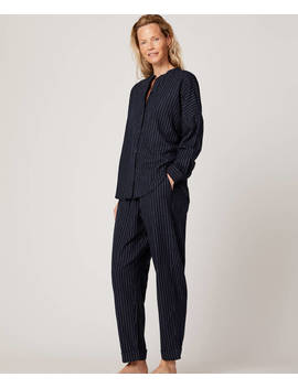 Dark Pinstripe Trousers by Oysho