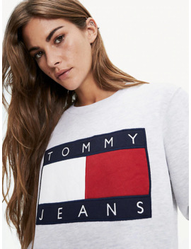 Cropped Fit Sweatshirt Mit Flag by Tommy Jeans