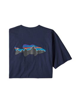 Patagonia Men's Fitz Roy Smallmouth Responsibili Tee® by Patagonia