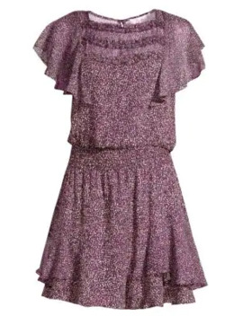 Funfetti Print Ruffle Mini Dress by Parker