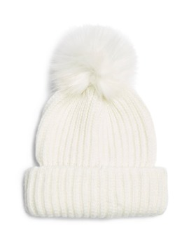 Faux Fur Pom Beanie by Topshop