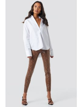 Snake Print Coated Pants Multicolor by Na Kd Trend