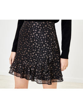 Star Lace Flippy Skirt by Oasis