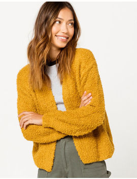 Coco & Jaimeson Mustard Womens Cardigan by Tilly's