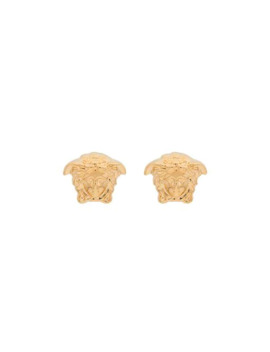 gold-metallic-medusa-stud-earrings by versace